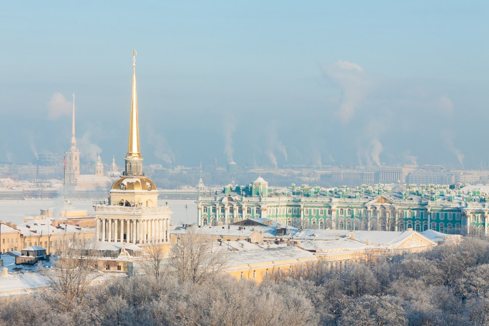 Picture: Russian Winter in Snow-Covered Saint-Petersburg