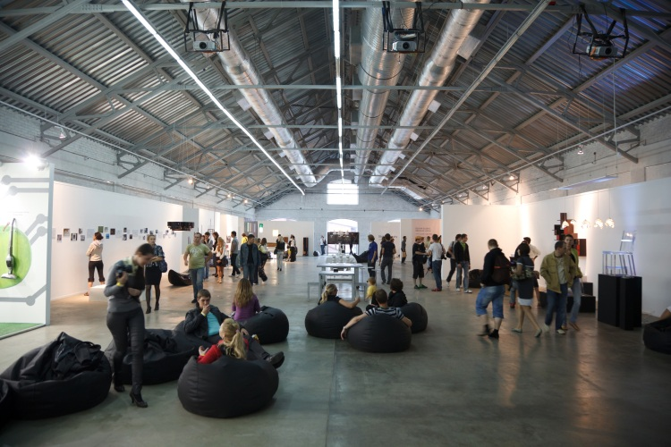 Picture: Inside Winzavod Contemporary Art Center in Moscow
