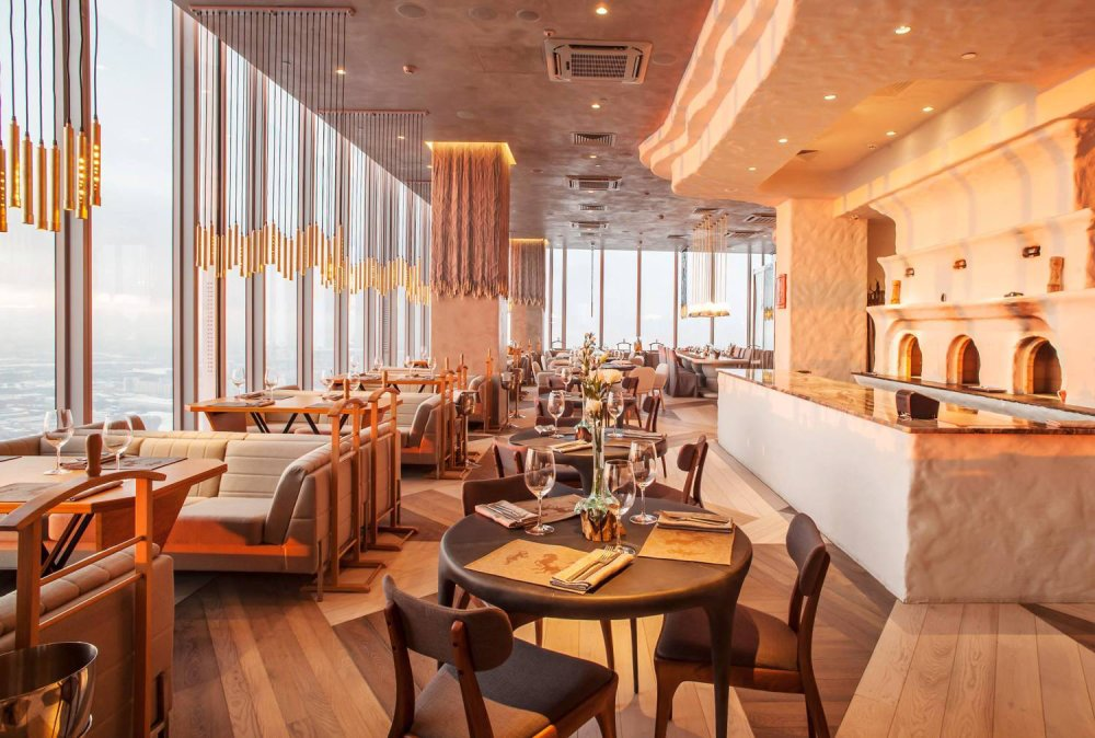 Ruski Restaurant - 354m Height in OKO Tower