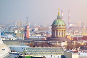 Picture: View from Saint-Petersburg's roofs © Dreamstime